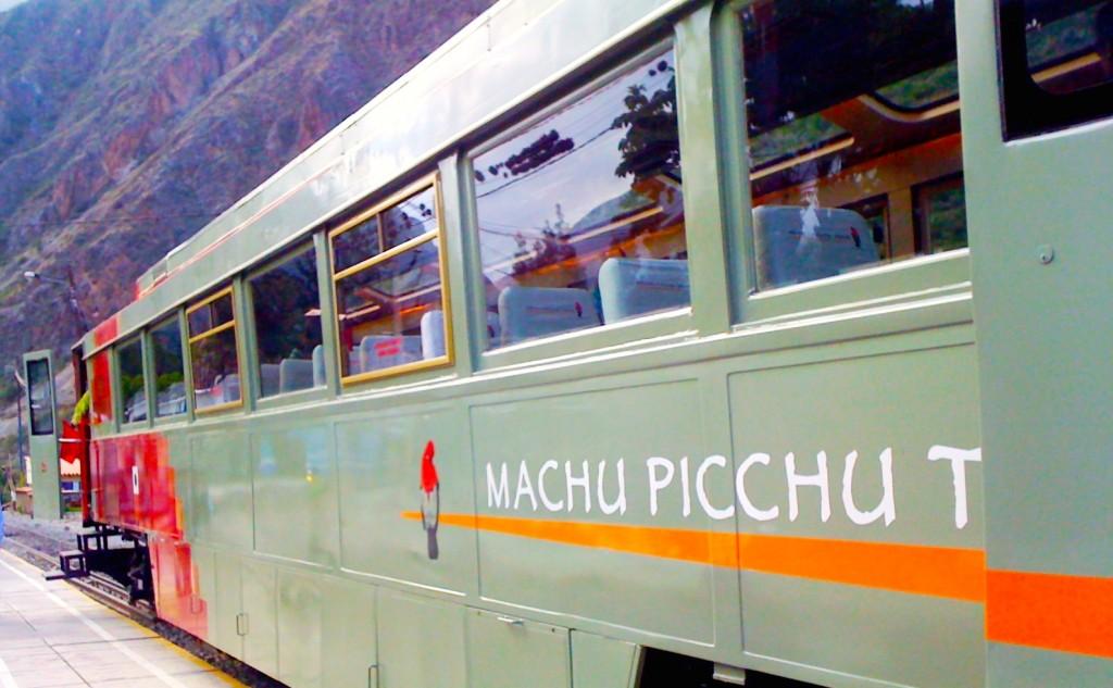 Chegando a Machu Picchu de trem