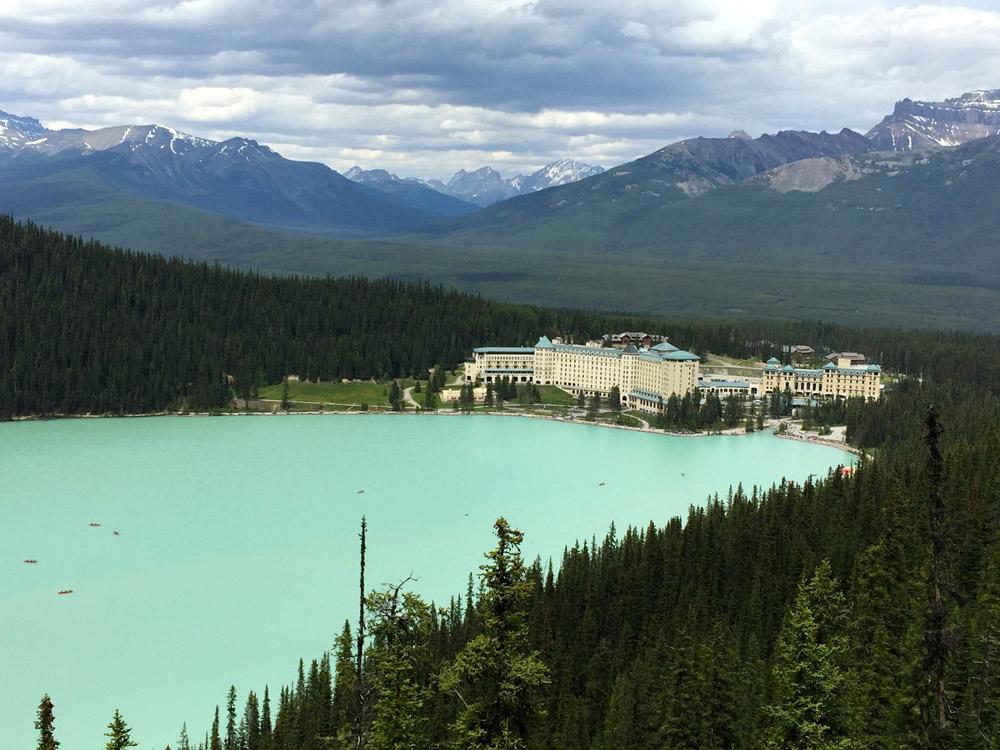 Vista do Hotel The Fairmont Chateau Lake Louise