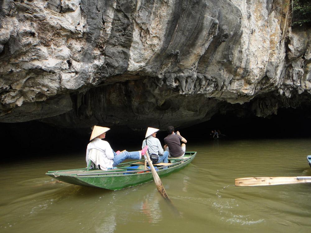 Entrando nas grutas