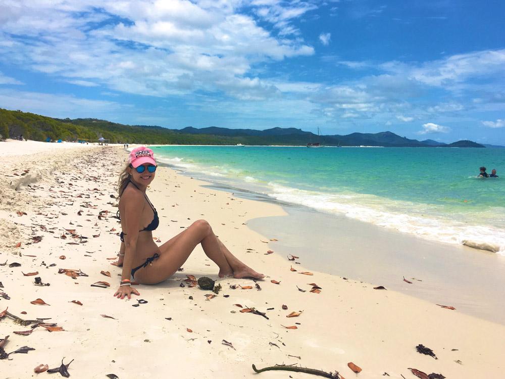 Whitehaven Beach para nadar e almoçar